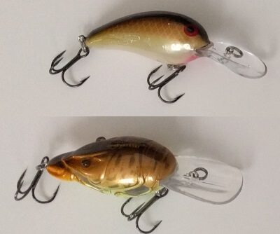 Medium Diving Crankbaits: Norman Deep Baby N and Live Target Crawfish